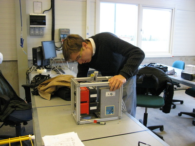 Martin  Rudolph inspects  the experiment upon recovery